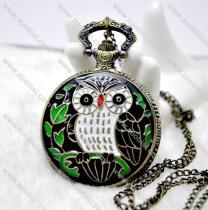 Enamel Owl Pocket Watch -PW000251