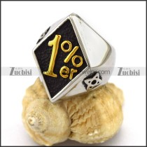 1 Percent ER in Gold Biker Ring r003396