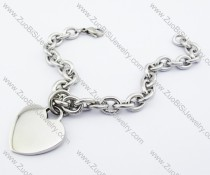 Heart Charm Stainless Steel Chain Bracelet - JB200120