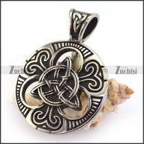Casting Celtic Knot Pendant in Diameter 37.50mm p003583