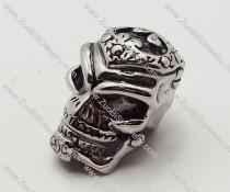 death's head Pendant in Stainless Steel is skull jewelry - JP090168