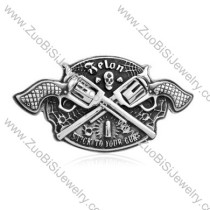 Cowboy Belt Buckle with Cool Two Guns -JZ350002
