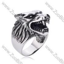 Stainless Steel wolf Rings for men - JR350156