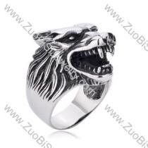 Stainless Steel wolf Rings for men - JR350156