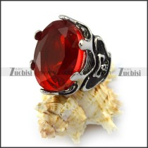 Red Oval Faceted Jumbo Stone Ring r004228