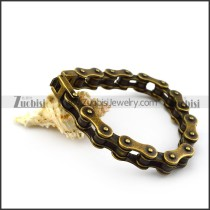10mm antique gold stainless steel bicycle chain bracelet for bikers b005600