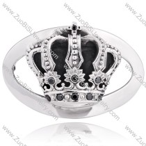 Getlemen's Antiqued Gothic Titanium Crown Buckle -JZ350007