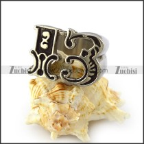 Lucky 13 Stainless Steel Ring r004202