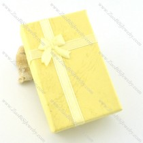 pale yellow paper jewelry boxes pa0008