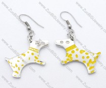 Yellow Dot Dog Stainless Steel earring - JE050125
