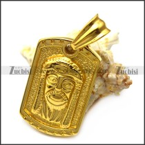 Gold Plating Hip Hop Jesus Tag Pendant p007195
