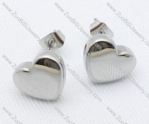 Solid Heart Stainless Steel earring - JE050019