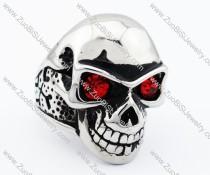 Red Eyes Stainless Steel skull Ring - JR090278