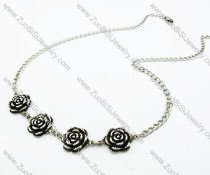 Stainless Steel Rose Necklace -JN170018
