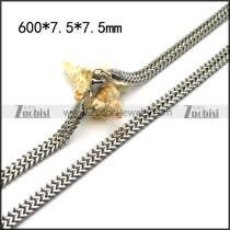 7.5mm Herringbone Mirror Finishing Chain Necklace n002061