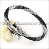 Stainless Steel Rope Bracelet - b000056