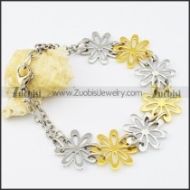 Stainless Steel Flower bracelet - b000528