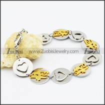 Stainless Steel Heart-shaped bracelet - b000503