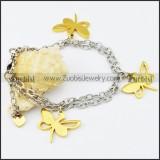 Stainless Steel Butterfly bracelet - b000516