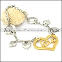 Stainless Steel Heart-shaped bracelet - b000475