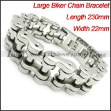 0.88 inch Heavy Stainless Steel Biker Chain Links Bracelet for mens -b000626-1
