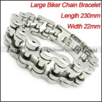 0.88 inch Heavy Stainless Steel Biker Chain Links Bracelet for mens -b000626-1