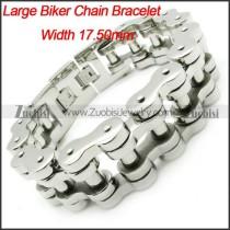 Huge Stainless Steel Motorcycle Chain Links Bracelet for Heavy Mens -b000626-11