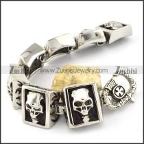 brilliant nonrust steel  Biker Bracelets for Mens - b000699