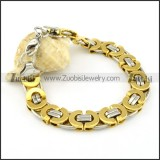 functional Stainless Steel Stamping Bracelets -b000663