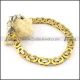 good noncorrosive steel Stamping Bracelets -b000661