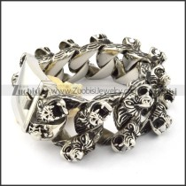 beauteous nonrust steel  Biker Bracelets for Mens - b000708