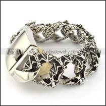 attractive Stainless Steel  Biker Bracelets for Mens - b000707