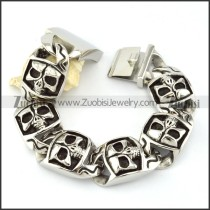 316L Stainless Steel  Biker Bracelets for Mens - b000709