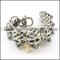 oxidation-resisting steel  Biker Bracelets for Mens - b000693