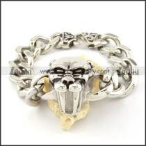 pretty oxidation-resisting steel  Biker Bracelets for Mens - b000704