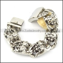 comely 316L Steel  Biker Bracelets for Mens - b000710