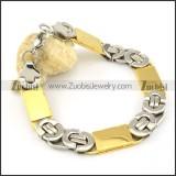pleasant noncorrosive steel Stamping Bracelets -b000660