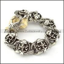 pleasant noncorrosive steel  Biker Bracelets for Mens - b000695