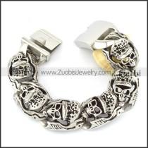 high quality oxidation-resisting steel  Biker Bracelets for Mens - b000711