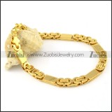 good-looking nonrust steel Stamping Bracelets -b000659