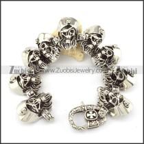 comely nonrust steel  Biker Bracelets for Mens - b000696