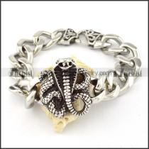 nice oxidation-resisting steel  Biker Bracelets for Mens - b000705