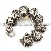 Stainless Steel 8 Lion Bracelet -b000854