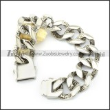 Casting Bracelet in 31L Stainless Steel for Bikers -b000960