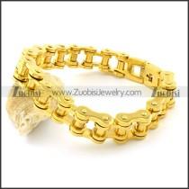 230 * 14.5mm Men Biker Chain Link Bracelet in 316L Stainless Steel -b001328