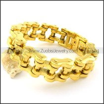 23mm Wide Gold Stainless Steel Biker Bracelets for Heavy Men -b001330