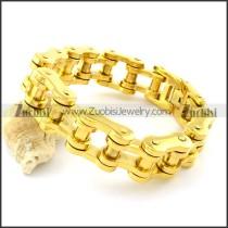 19mm Wide Gold Chain Biker Bracelets for Strong Men -b001329