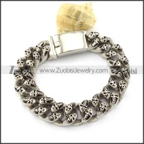 Double Skull Bracelet crafted Casting for Men -b001346