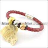 21*0.6cm red leather bracelets b001618