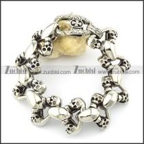 9 skull twin bracelet for biker -b001476